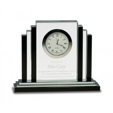 """6"""" Clear/Black Crystal with Clock"""